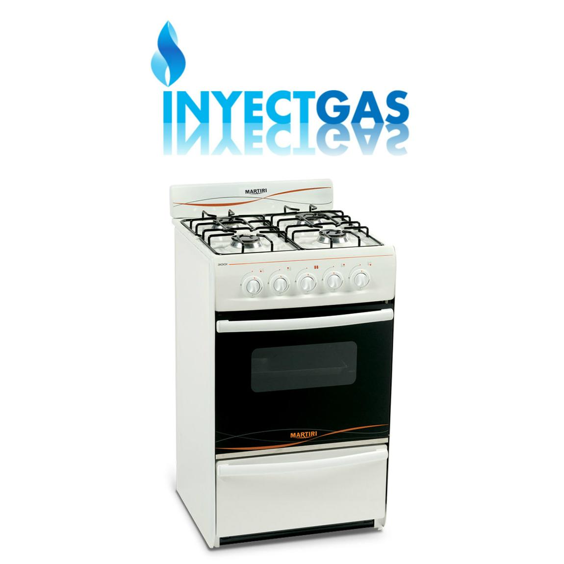 Cocina 4 hornallas con horno 3001 martiri aprobada gas for Cocina gas natural con horno