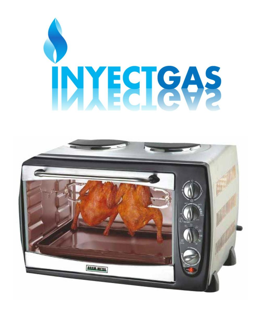 Cocina el ctrica bram metal con horno y espiedo convector for Cocinas con horno electrico
